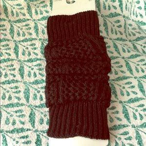 Black leg warmers new